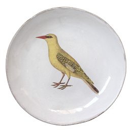 Bengali Yellow Bird Soup Plate