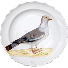 Stock Dove Soup Plate