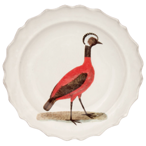 Red Peruvian Hen Soup Plate