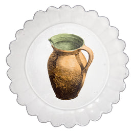 Plate with Pitcher