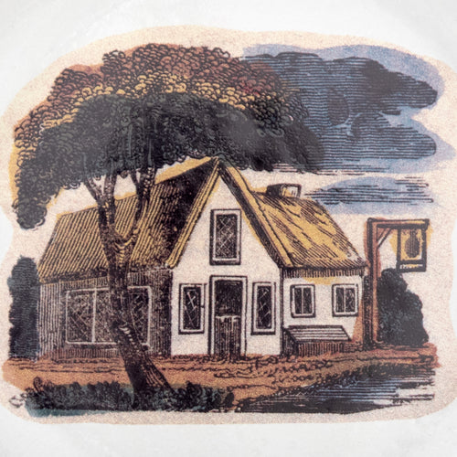 Small House Under Tree Plate