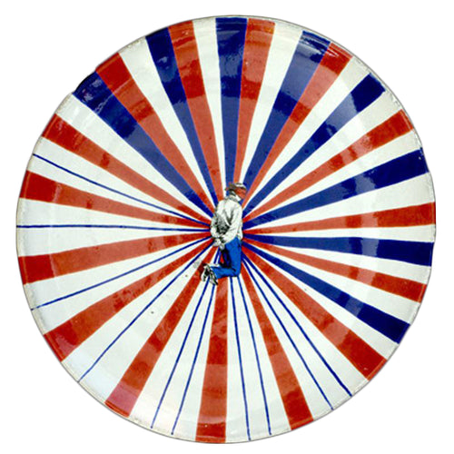 Tricolore Plate with Motif