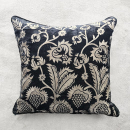 Shania Silk Velvet Cushion in Nightshade
