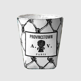Provincetown Ceramic Candle with Net Motif