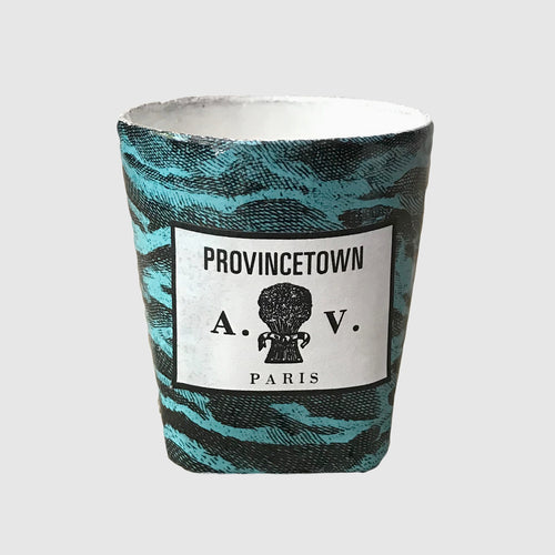 Provincetown Ceramic Candle with Sea Motif
