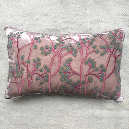 Berries Silk Velvet Cushion in Orchid