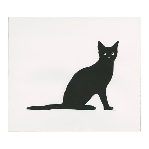 Black Cat with Flat Tail