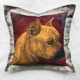 """Boxer"" Vintage Painting Pillow"