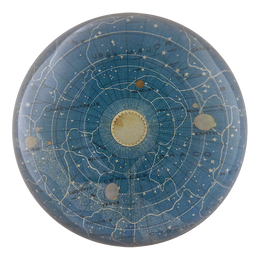 Blue Universe handmade decoupage dome paperweight