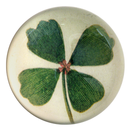 Clover handmade decoupage dome paperweight