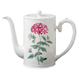 Red Star Phlox Coffee Pot