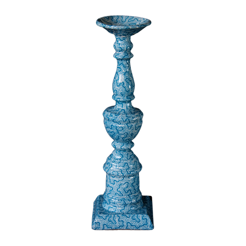Blue Coral Candlestick