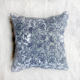 Cannes Silk Velvet Cushion in Light Blue