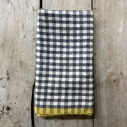 Gingham Tea Towel in Grey & Djon