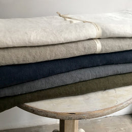 Charvet Editions Heavy Linen Bedcovers