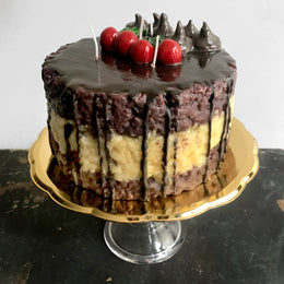 Chocolate Cherry Candle Cake