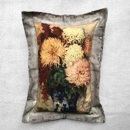 """Chrysanthemum"" Vintage Painting Pillow"