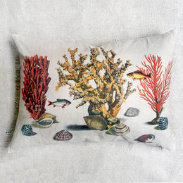 Sea Life Coral Pillow
