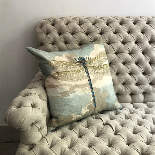 Dragonfly Over Clouds Pillow