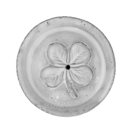 "Clover ""Chance' Incense Holder on Saucer"