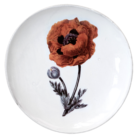 Eastern Poppy Flower Dinner Plate