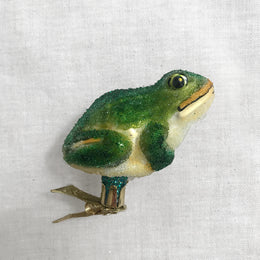 Green  Frog Clip-On Ornament