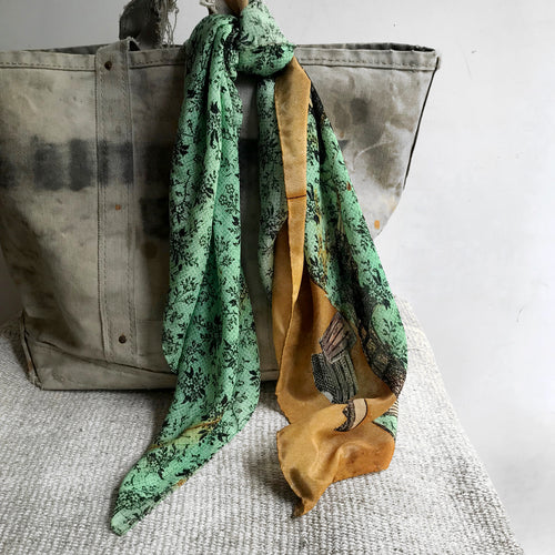 Green Interior Silk Scarf