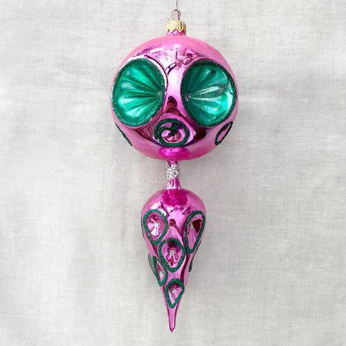 Green & Pink Fantasy Ornament