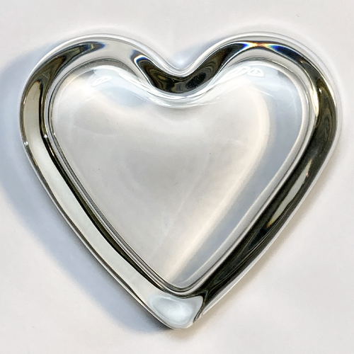 Heart Paperweight with Recess