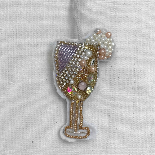 Beaded Celebration Bubbly Ornament