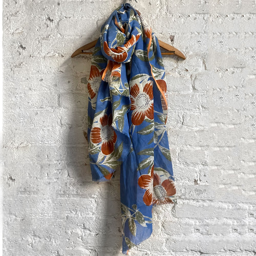 PS-1896 Scarf in Forget Me Not