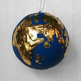Industrial Globe Ornament