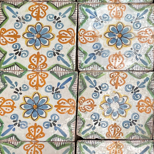 Set of 17 Early 19th Century French Tiles