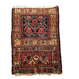 "K0275 1'9"" x 2'5"" Kurdish Bag Face Rug"