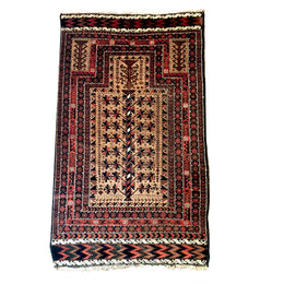 "BLP0525_2 2'9"" x 4'7"" Belouch Prayer Rug"
