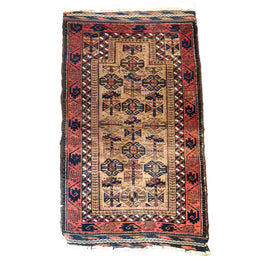 "BLP0450 2'5"" x 4' Belouch Prayer Rug"