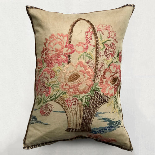 Custom Embroidered Antique Cushion
