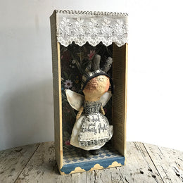 A Dark and Orderly Flight Shadow Box Doll