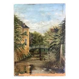 Vintage Bridge Painting