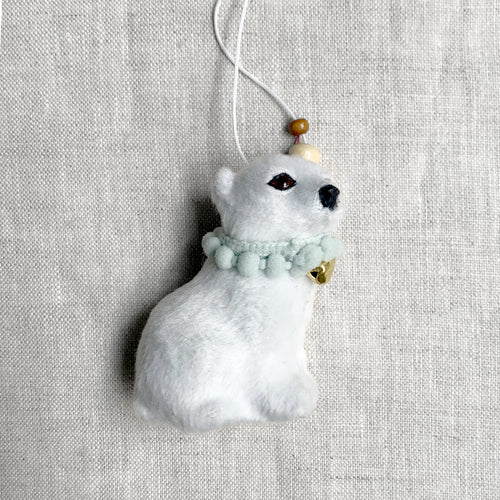 Soft Arctic Baby Polar Bear Ornament