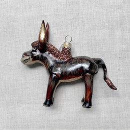 Brown Donkey Ornament