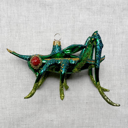 Green Grasshopper Ornament