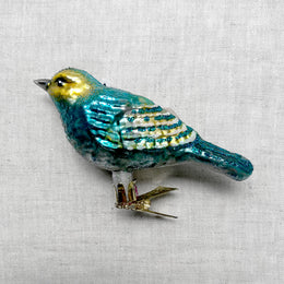 Blue & Yellow Bird Clip-On Ornament