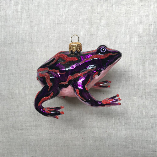 Purple & Pink Frog Ornament