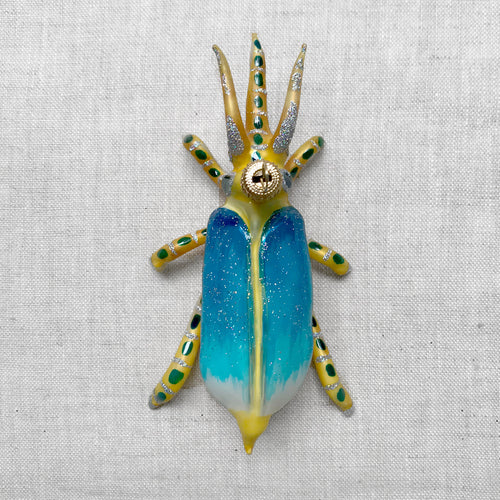 Yellow & Blue Bug Ornament