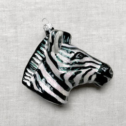 Zebra Head Ornament