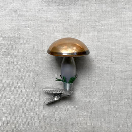 Nostalgic Brown Mushroom Clip-On Ornament