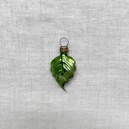 Nostalgic Tiny Leaf Ornament that in one inch by one inch in size