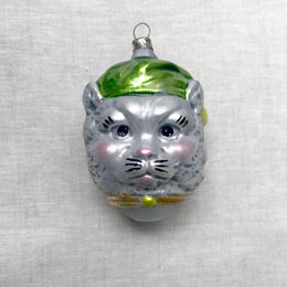 Nostalgic Cat Head Ornament