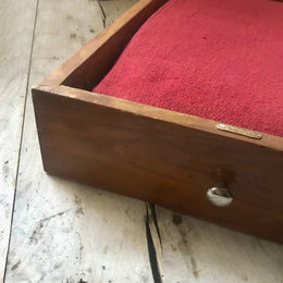 Vintage Drawer Pet Bed with Red Cushion